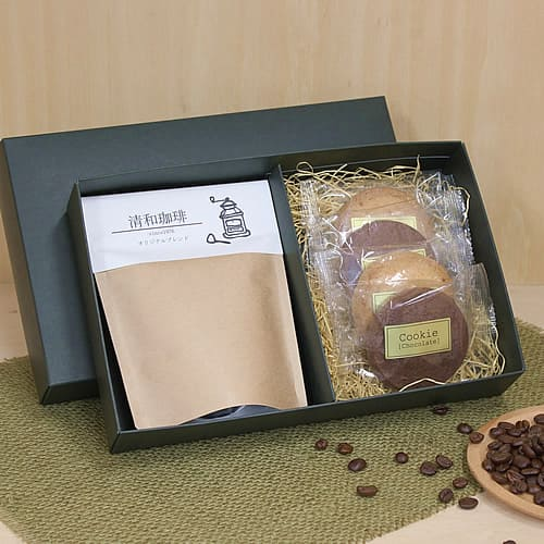 ナチュラルなコーヒー菓子セットのギフト