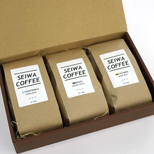 クラフトガゼット袋 | 珈琲200g×3袋 コーヒーギフト