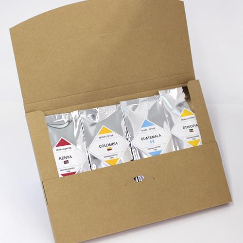 シンプルなコーヒーの通販用梱包